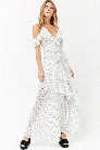 Tiered Flounce Maxi Dress