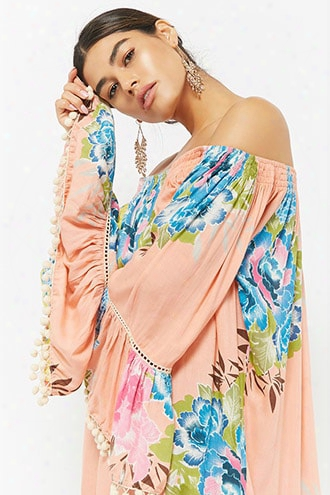 Z&l Europe Floral Off-the-shoulder Dress