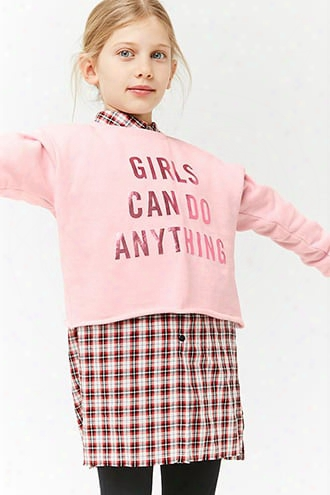 Girls Metallic Graphic Sweatshirt (kids)