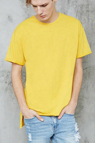 High-low Raw-cut Tee