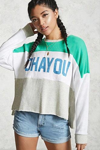 Ohayou Colorblocked Sweatshirt
