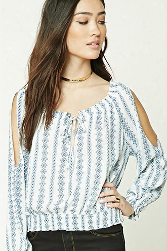 Ornate Drawstring Peasant Top