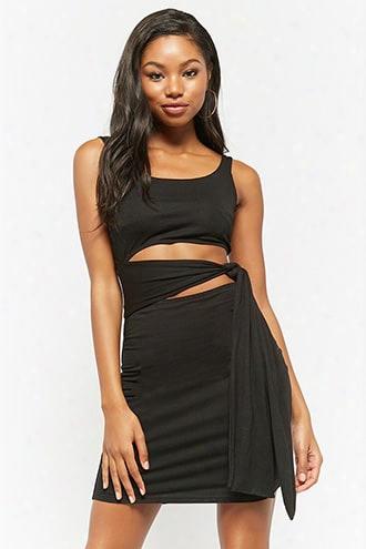 Pieced Waist-wrap Dress