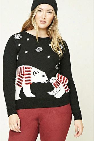 Plus Size Polar Bear Sweater