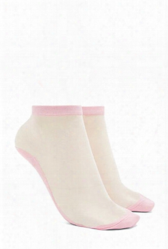 Sheer Mesh Ankle Socks