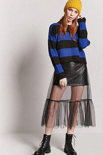Stripe Ribbed Knit Sweater