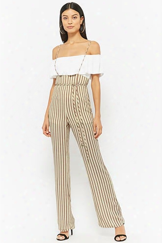 Striped Cami Strap Overalls