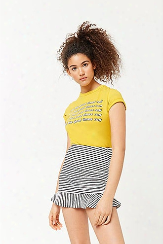 Striped French Terry Skirt