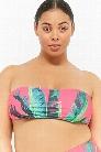 Plus Size Kulani Kinis Palm Leaf Bandeau Bikini Top
