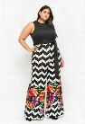 Plus Size Scuba Knit Combo Jumpsuit