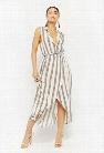 Striped Tulip-Hem Shirt Dress