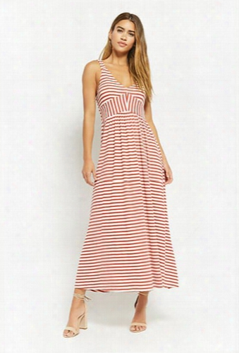 Anm Ribbed Striped Maxi Dress