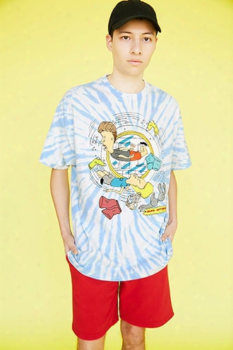 Beavis And Butt-head Graphic Tie-dye Tee