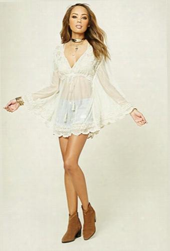 Boho Me Sheer Lace Dress