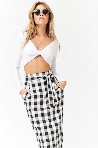 Buffalo Plaid Paperbag Skirt