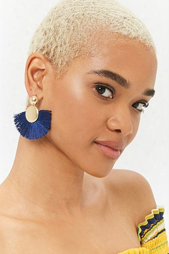 Dome Stud & Fringe Drop Earrings