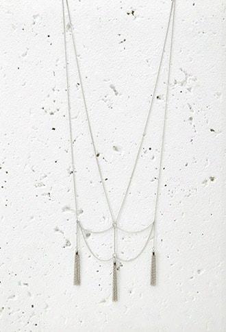 Drapey Chain Tassel Necklace