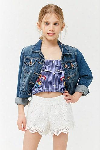 Girls Floral Eyelet Shorts (kids)