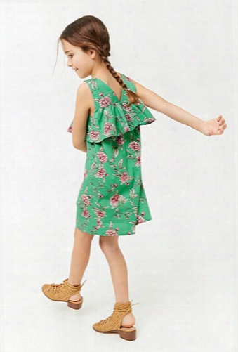 Girls Floral Flounce Clothes (kids)