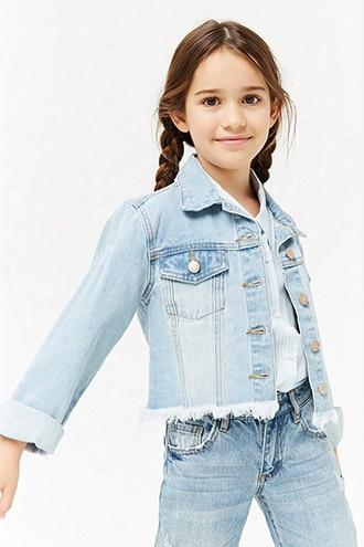 Girls Frayed Denim Jacket (kids)