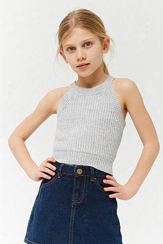 Girls Marled  Sweater-knit Top (kids)