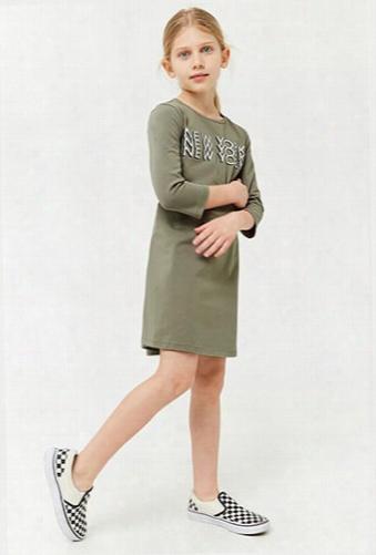 Girls New York Graphic Dress (kids)