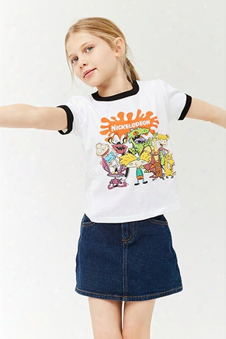 Girls Nickelodeon Graphic Ringer Tee (kids)
