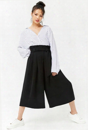 High-rise Paperbag Culottes