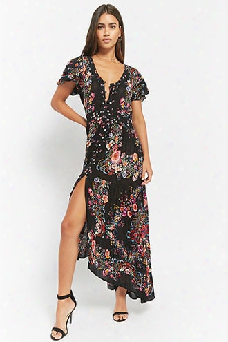 I The Wild Floral Button-front Dress