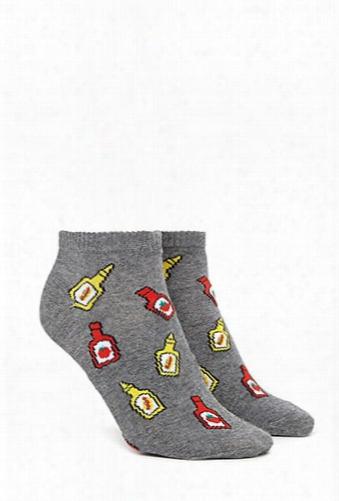 Ketchup Print Ankle Socks