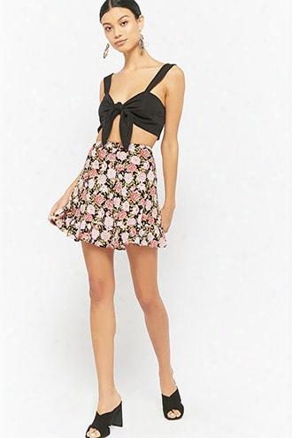 Motel Floral Mini Skirt