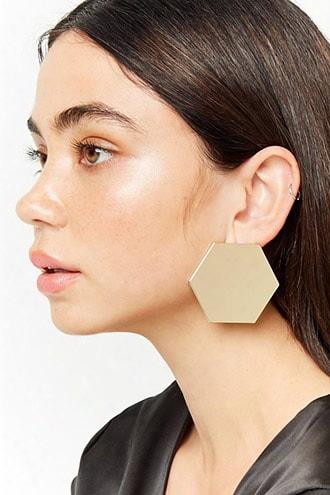 Oversize Geo Stud Earrings