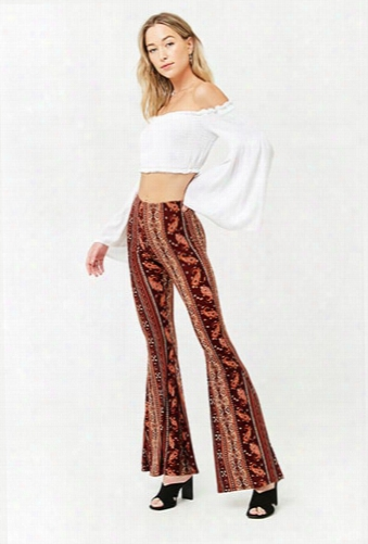Paisley & Floral Flared Pants