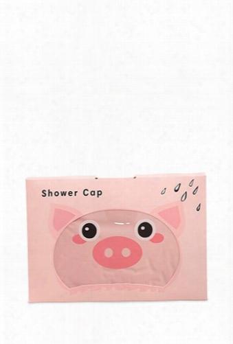 Pig Graphic Shower Cap