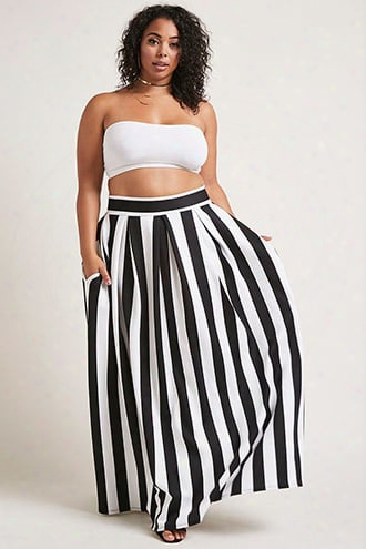 Plus Size Scuba Maxi Skirt