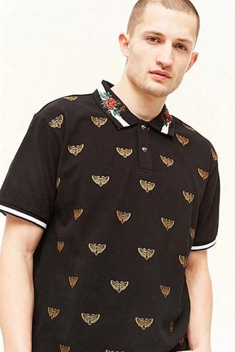 Reason Royal Bee Embroidered Polo Shirt