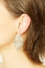 Cutout Leaf Earring Set