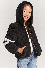 Girls Varsity-Stripe Jacket (Kids)