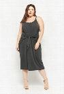Plus Size Tie-Front Midi Dress