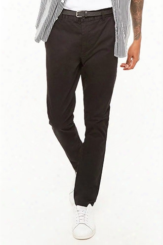 Belted Skinny Chino Pants