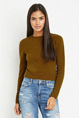 Contemporary Brushed Knit Boxy Sweater