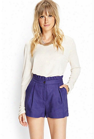 Contemporary Ruffle Waist Pleated Shorts