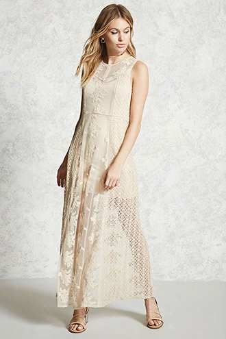 Contemporary Sheer Crochet Dress