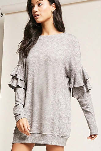 Cutout Back Sweater-knit Dress