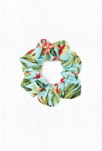 Floral Print Hair Scrunchie