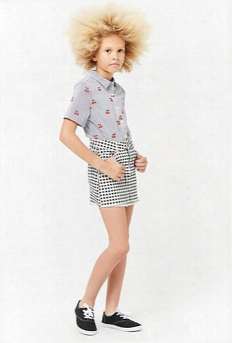 Girls Gingham Denim Skirt (kids)