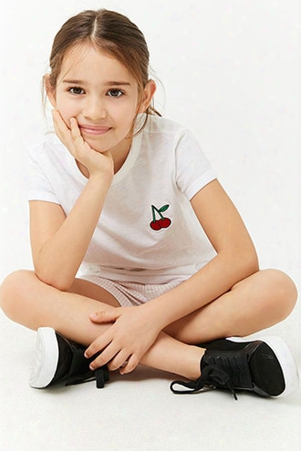 Girls Rose Slub Knit Tee (kids)