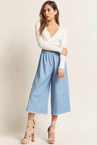 High-waist Chambray Culottes