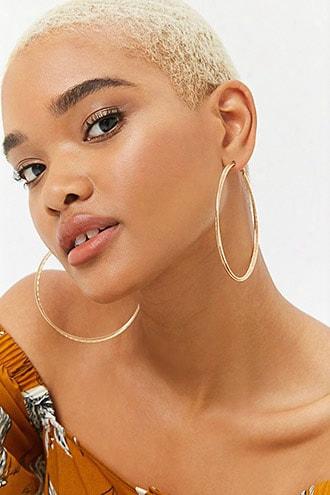 Intertwined Beaded Hoop Earrings