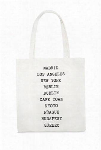 Major Cities Canvas Tote Bag